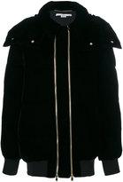 Stella McCartney double zip puffer jacket - women - Polyester/Spandex/Elastane/Cupro/Wool - 36