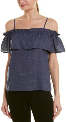 Splendid Off-The-Shoulder Linen-Blend Top