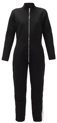 Bolt X Edie - Upcycled Cotton-drill Jumpsuit - Black