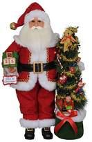 "Karen Didion Originals Lighted Days Til Christmas Santa, 19"""