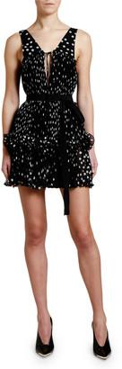 Stella McCartney Metallic-Dotted Sleeveless Dress