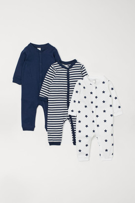 H&M 3-pack Cotton Pajamas - Blue