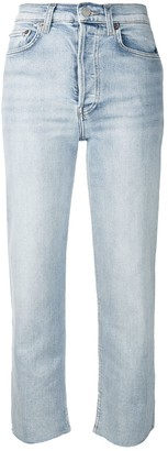 RE/DONE Raw Hem Cropped Jeans