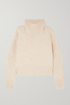 &Daughter Fintra Cropped Wool Turtleneck Sweater - Cream