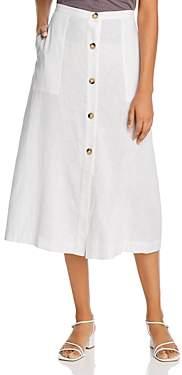 Elan International Midi Button-Front Skirt