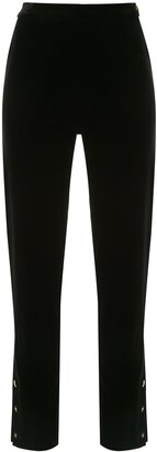 Chanel Pre Owned CC straight-leg trousers