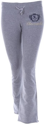 Abercrombie & Fitch Grey Cotton Trousers for Women