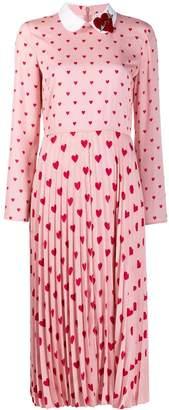 RED Valentino heart print long dress