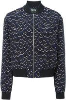 Markus Lupfer leopard print bomber jacket - women - Silk/Viscose - L