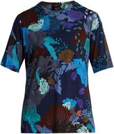MENG Floral leaf-print silk-jersey pyjama top