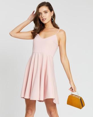 Missguided Petite Strappy Scuba Skater Dress