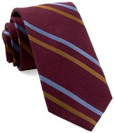 The Tie Bar Burgundy Pep Stripe Tie