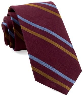 Tie Bar Pep Stripe Burgundy Tie
