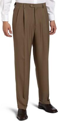 Haggar Men's Big-Tall Repreve Stria Pleat Front Dress Pant