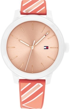 Tommy Hilfiger Women's Coral Silicone Strap Watch 38mm, Created for Macy's