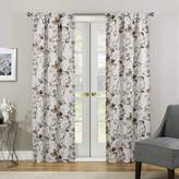 "Eclipse Floral Paige Thermaweave Blackout Curtain Panel Tan (37""x95"