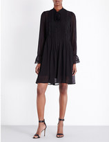 The Kooples Lace silk-chiffon dress