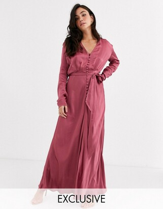 Ghost Annabelle exclusive rose pink maxi dress
