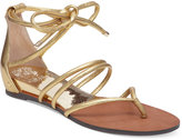 Vince Camuto Adalson Strappy Lace-Up Flat Sandals