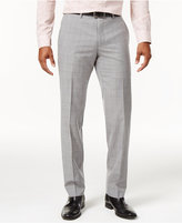 Bar III Men's Slim-Fit Light Gray Plaid Suit Pants, Only at Macy's