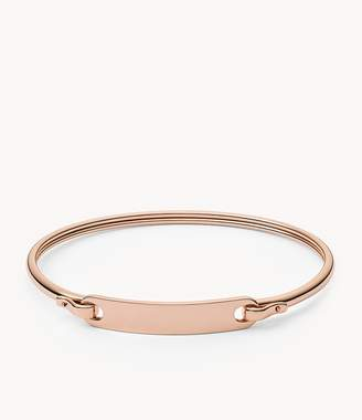 Fossil Plaque Rose Gold-Tone Steel Bracelet Jewelry JF02900791