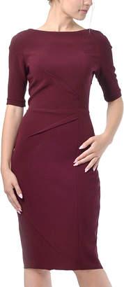 LADA LUCCI Women's Career Dresses Burgundy - Burgundy Sheath Dress - Women & Plus