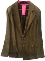 Ungaro Green Leather Jacket for Women
