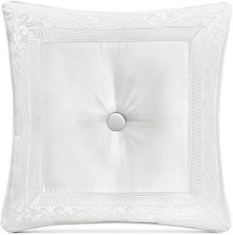 """J Queen New York Bianco Tufted 20"""" Square Decorative Pillow Bedding"""