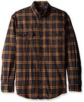 Arrow Men's Long Sleeve Hunting Plaid Flannel Shirt
