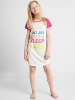 Graphic baseball nightgown