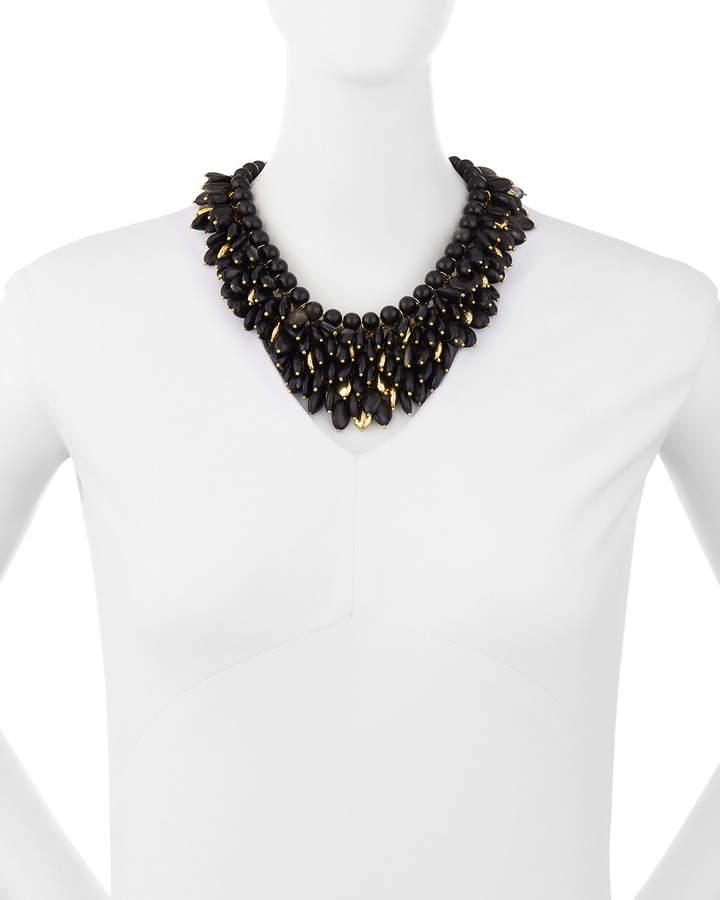 Ashley Pittman Kalamu Layered Dark Horn Necklace