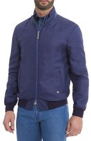 Stefano Ricci Wool-Blend Bomber Jacket, Navy