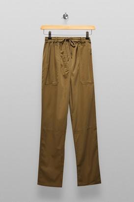 Topshop Womens Tall Khaki Slouch Trousers - Khaki