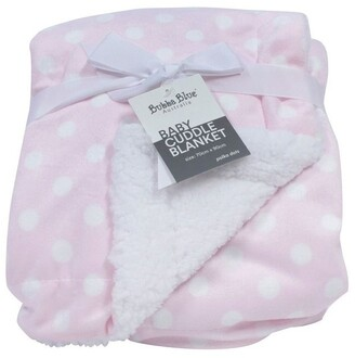 Bubba Blue Polka Dots Pink Reversible Cuddle Blanket