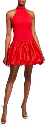 Jay Godfrey Hollie Stretch Crepe Halter Dress