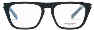 Saint Laurent Flat-top Acetate Glasses - Womens - Black