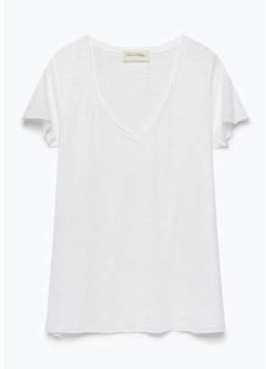 American Vintage White Jac 51 Jacksonville T Shirt - S - White
