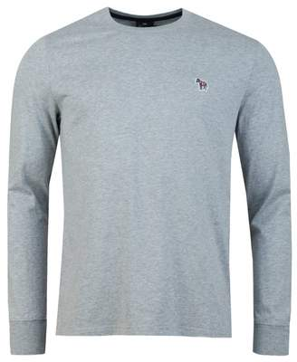 Paul Smith Regular Fit Long Sleeved T-shirt Colour: BLACK, Size: SMALL