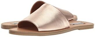 Steve Madden Grace Slide Sandal (Natural Snake) Women's Shoes