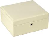 Wolf London Square Jewelry Box, Cream