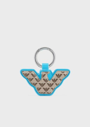 Emporio Armani Eagle-Shaped Myea Bag Charm With All-Over Logo