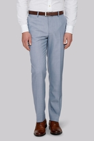 Moss Bros Tailored Fit Ice Blue Trousers