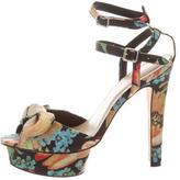Loeffler Randall Floral Print Platform Sandals