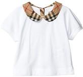 Burberry Mini Della Tee (Infant/Toddler) (White) Girl's Clothing