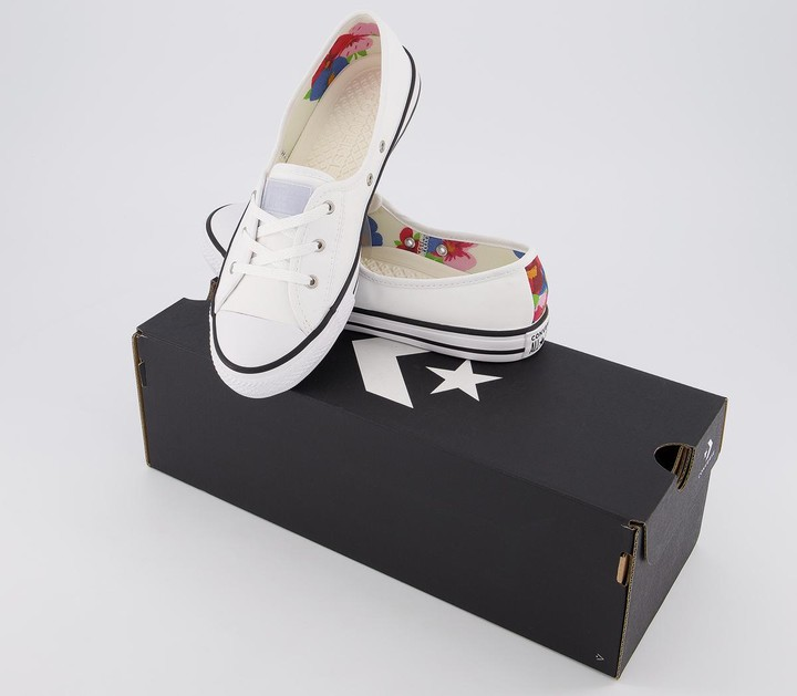 Thumbnail for your product : Converse Ctas Ballet Lace Trainers White Multi Black Exclusive