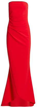 Chiara Boni Chiharu Strapless Ruched Gown