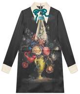 Gucci Space flowers print satin dress