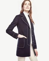 Ann Taylor Petite Contrast Stitch Coat