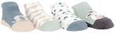 Cutie Pie Baby Blue Elephant & Green Cow Four-Pair Socks Set