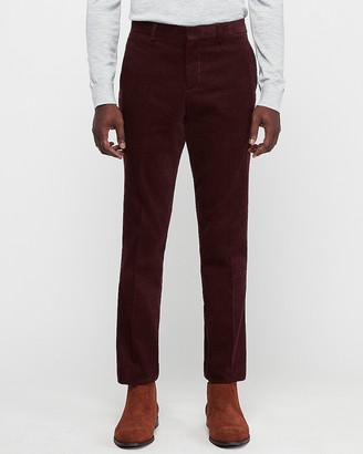 Express Slim Burgundy Corduroy Suit Pant